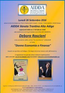 Invito AIDDA VTAA 26 settembre 2016 - Debora Roscian